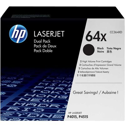 Paquet double de cartouches de toner HP 64x